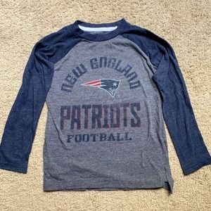Patriots long sleeve Tee for boys size 5/6